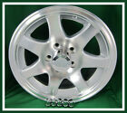 Aluminum Trailer Rim 15X6 Wheel 7 Spoke 5 on 4.5 Center Cap & Lugnuts -Set of 4