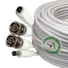 White 50ft Siamese RG-59 Shielded Video / Power Cable for Q-see Zmodo Swann