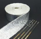 METALLIC FIBERGLASS MOTORCYCLE EXHAUST PIPE WRAP WIRE HOSE INSULATION PROTECTION