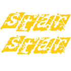 Mastercraft 2008 X-Star Oem Yellow Marine Vinyl Boat Decals (Pair) 758107