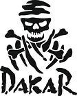 1 X Dakar Skull Sticker - Decal Colours, Black-White-Gray-Red-Yellow-Silver
