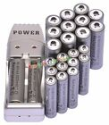 12pcs AA 3000mAh + 12pcs AAA 1800mAh Rechargeable 1.2V Ni-MH Battery USB Charger