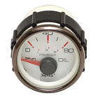 Skiers Choice 1043484 Faria Gp7625A Pewter / White Boat Oil Pressure Gauge