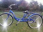 "SHINEY, BRAND NEW - 26"" Schwinn Meridian Adult Tricycle, Sparkling Blue"