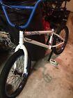 Haro 300.2 bmx bike white and blue