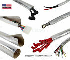 """Aluminum Metallic Heat Shield Sleeve Insulated Wire Hose Cover w/ Velcro 1¾"""" 6ft"""