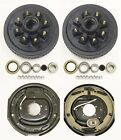 """Trailer 8 on 6.5"""" Hub Drum Kits with 12""""x2"""" Electric Brakes for 7000 lbs axle"""