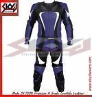 Blue motorcycle racing leather One piece suit, 3XS- 3XL