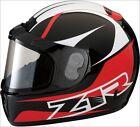 Z1R Red Phantom Peak Snowmobile Helmet W/ Dual Anti Fog Lens Shield LG