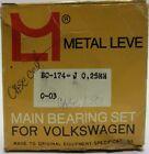 Metal Leve - Main Bearing Set For Volkswagen - BC-174-J 0.25MM 0-03