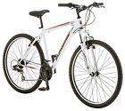 "27.5"" Men's High Timber Mountain Bike Steel 21-Speed 18-inch Frame White Bicycle"