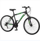 "26"" Schwinn Men's Mountain Bike 7-Speed 18 Inch Frame Steel Bicycle Front Suspen"