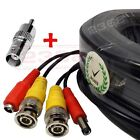 *60ft (18M) BNC&Power Plug-n-Play CCTV Video Power Cable for HD Security Camera