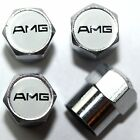 AMG White Tire Valve Stem Caps Cover Wheel Free Shipping