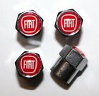 Fiat Red Tire Air Valve Stem Caps Cover Wheel Free Shipping