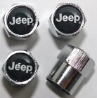 Jeep Black Tire Air Valve Stem Caps Cover Wheel Free Shipping