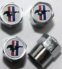 Mustang White Tire Air Valve Stem Caps Cover Wheel Free Shipping