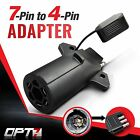 OPT7 7-Pin to 4 Way Adapter Tow Hitch Flat Blade Trailer Plug Connector Tailgate
