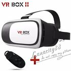 VR BOX Virtual Reality Headset 3D Glasses+Remote for Android IOS iPhone Samsung