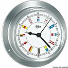 BARIGO Sky Series Clock Boat Marine Satin SS body white dial 110x32mm
