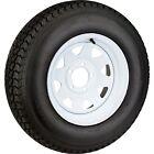 "2-Pk Americana 3S639 Trailer Tires On White Rims ST205/75D15 Load C (5 Lug 5""C)"