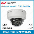 US Stock Hikvision DS-2CD2142FWD-IS 4MP IP SecurityCamera POE HD Audio WDR Onvif
