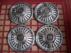 """Chevy SS, Malibu 1965, Set of Four 14"""",Three-bar Spinner Hubcaps"""