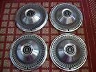 """1968-1969 Ford   Set of Four 15"""" Hubcaps"""