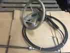 "* 15ft Teleflex STEERING ASSY RACK SYSTEM with 13"" Bayliner Steering Wheel"
