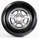 Radial Trailer Tire ST205/75R15 Load Range C 5 Lug Black Aluminum T03 Rim Wheel