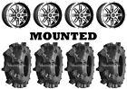 Kit 4 Interco Sniper XT Tires 33x9.5-15 on Sedona Badlands Machined Wheels 1KXP