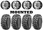Kit 4 Maxxis Vipr Tires 25x8-12/25x10-12 on Sedona Badlands Machined 10mm CAN