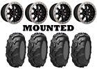 Kit 4 ITP Mayhem Tires 25x8-12/25x10-12 on Raceline Mamba Beadlock Machined IRS