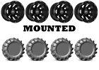 Kit 4 EFX MotoBoss Tires 28x10-14 on Sedona Spyder Black Wheels 1KXP