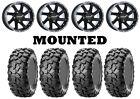 Kit 4 CST Clincher Tires 27x9-14/27x11-14 on Raceline Twist Black Wheels H700
