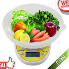 Compact Digital Kitchen Scale Diet Food 5KG/11LBS x 1g+Bowl Electronic Weight BB