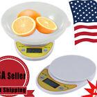 Digital Kitchen Scale Compact Diet Food 5KG 11LBS x 1g+Bowl Electronic Weight