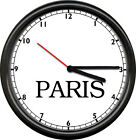 Time Zone Dubai New York Paris London Tokyo Travel Map Gift Sign Wall Clock