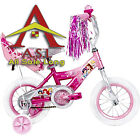 "12"" Huffy Disney Princess Girls' Bike with Doll Carrier Bicycle Kids Fun Ride"