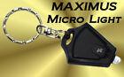 MINI MICRO LIGHT-LED Keychain Flashlight SUPER BRIGHT- Photon Emitting LED Torch