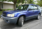 2004 Subaru Forester 2.5X 2004 Subaru Forester 2.5 x Blue 4wd/AWD low miles