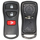 New Remote Keyless Entry Fob Replacement Shell Case Housing 3 Btn Pad For Nissan