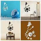 Fashion Wall Clock Diy 3D Mirror Sticker Home Office Room Decor Art Modern TW