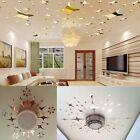 43Pcs 3D Star Shape Mirror Effect Home Decor Wall Art Decals Stickers Utility TW