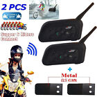 2xBT Bluetooth Motorcycle Motorbike Helmet Intercom Headsets 6 Riders 1200M 2017