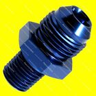 """AN8 8AN Male to 1/4"""" NPT Aluminium Straight Flare Fitting Adapter - Blue"""