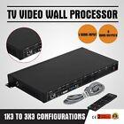 TV 9-Channel Video Wall Processor Controller 3x3 Splitter Switcher HDMI VGA DVI
