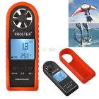 Digital Anemometer Air Wind Speed Meter Tester Temperature LCD Gauge Thermometer