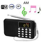 Mini AM FM Radio Media Speaker MP3 Music Player Support TF Card / USB Disk Black