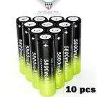 10Pcs Battery Li-ion 18650 3.7V Rechargeable Battery For Flashlight Lamp #